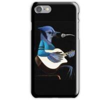 BLUE JAY PLAYING GUITAR TEE SHIRT & VARIOUS APPAREL.. iPhone Case/Skin