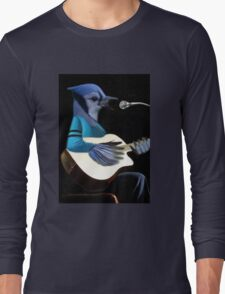 BLUE JAY PLAYING GUITAR TEE SHIRT & VARIOUS APPAREL.. Long Sleeve T-Shirt