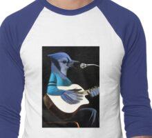 BLUE JAY PLAYING GUITAR TEE SHIRT & VARIOUS APPAREL.. Men's Baseball ¾ T-Shirt