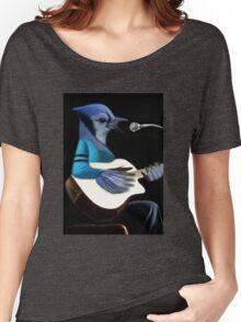 BLUE JAY PLAYING GUITAR TEE SHIRT & VARIOUS APPAREL.. Women's Relaxed Fit T-Shirt