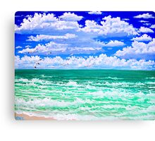 nothin but the beach and sky Canvas Print