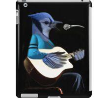 BLUE JAY PLAYING GUITAR TEE SHIRT & VARIOUS APPAREL.. iPad Case/Skin