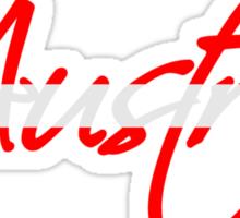 Austria Text Logo Sticker