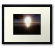Sandgate Brisbane Morning Sunrise Framed Print