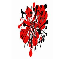 red and black abstract Photographic Print