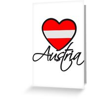 Austria Love Heart Greeting Card