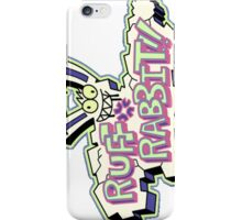 Ruff Rabbit iPhone Case/Skin