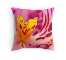 Alien Orchids Throw Pillow