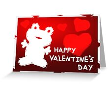 Valentine's Day Frog Greeting Card