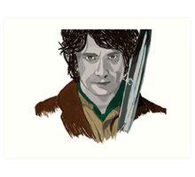 Bilbo of the Shire Art Print