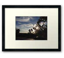 Sunset on the Ridge Framed Print