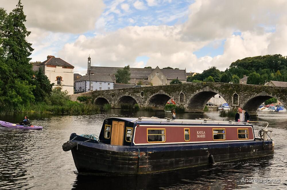 Kayla Marie, narrowboat, Graiguenamanagh, County Kilkenny, Ireland by Andrew Jones