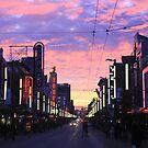 Sunset on Granville by Glenn Browning
