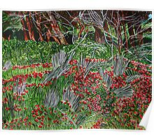 Trees in the Field of Anemones Poster