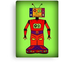 Robot Mix Tape Canvas Print