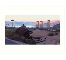 Lake View Drive Art Print