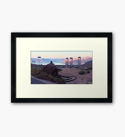 Lake View Drive Framed Print