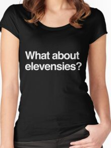 What about elevensies? Women's Fitted Scoop T-Shirt