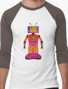 Robot Mix Tape Men's Baseball ¾ T-Shirt