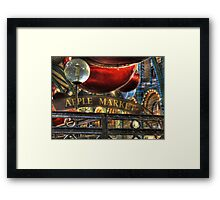 Apple Market Horizontal Framed Print