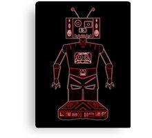 Neon Robot Mix Tape Canvas Print