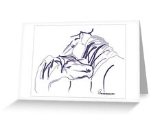 Horses together 10 Greeting Card