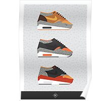 AM1 Safari-print trio Poster