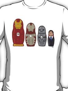 Iron Man matryoshka dolls  T-Shirt