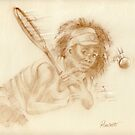 Venus Williams - pastel sketch drawing  by Paulette Farrell