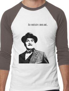 Hercule Poirot Men's Baseball ¾ T-Shirt