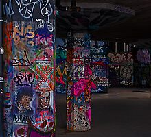 Southbank Skate Park Graffiti, London by JMChown