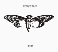 Cicada 3301 everywhere black T-Shirt