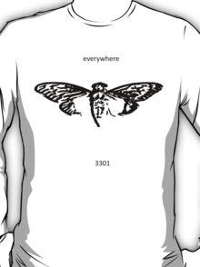Cicada 3301 everywhere black T-Shirt