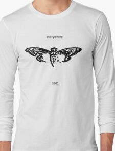 Cicada 3301 everywhere black Long Sleeve T-Shirt