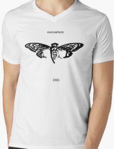 Cicada 3301 everywhere black Mens V-Neck T-Shirt