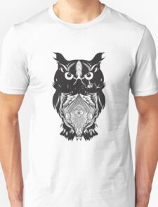 Black Owl Design T-Shirt