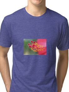 Macro Close Up Of Hibiscus Pollen Tri-blend T-Shirt
