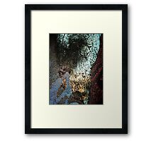 Valley View at Sunset Abstract Framed Print