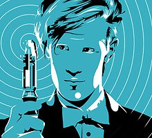 The Eleventh Doctor (Blue) by Robert  Lockley