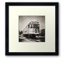 Vintage Streetcar Trolley 6087 Framed Print