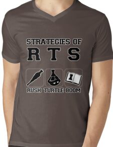 Rush Turtle Boom Mens V-Neck T-Shirt