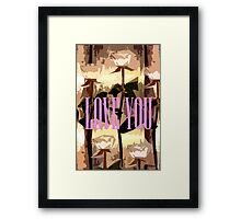 LOVE YOU 7 Framed Print