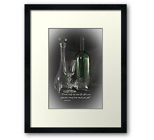 Drink Freely Framed Print