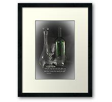 Drink Freely Framed Print