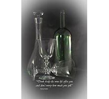 Drink Freely Photographic Print
