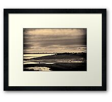 Landscape, Waterfoot, Solway firth, Lake district hills Framed Print