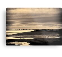 Landscape, Waterfoot, Solway firth, Lake district hills Metal Print
