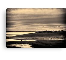 Landscape, Waterfoot, Solway firth, Lake district hills Canvas Print