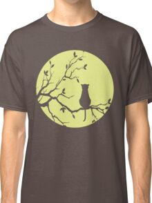 The Cat And The Moon (v2) Classic T-Shirt