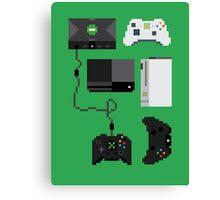 Pixel History - Xbox Canvas Print